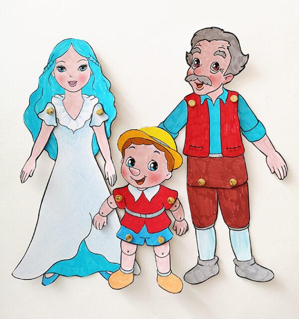 storia di pinocchio in breve marionette di pinocchio geppetto e la fata turchina